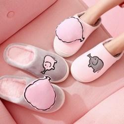 家居棉拖鞋,可爱情侣室内韩版厚底居家用毛绒拖鞋