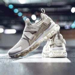 Anta安踏 NASA 91845508 男运动鞋,全掌气垫跑步鞋,一度灰/雾灰/安踏白