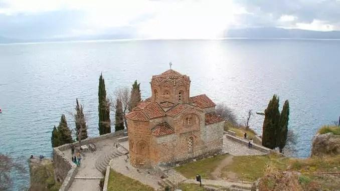 Kirche am Ohrid-See