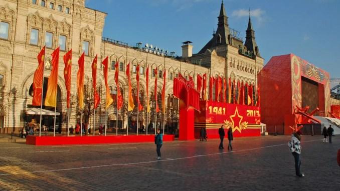 Moskau Vorbereitungen zur Parade Sieg über Deutschland