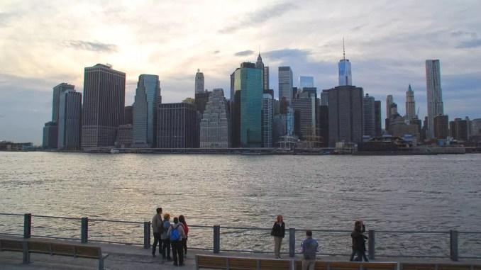 Ausblick über New York von Brooklyn aus
