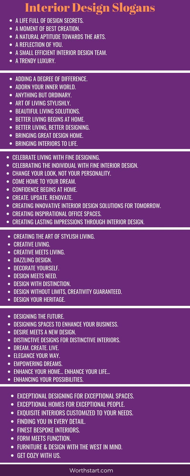 Interior Design Slogans 50 Home Decor Slogans