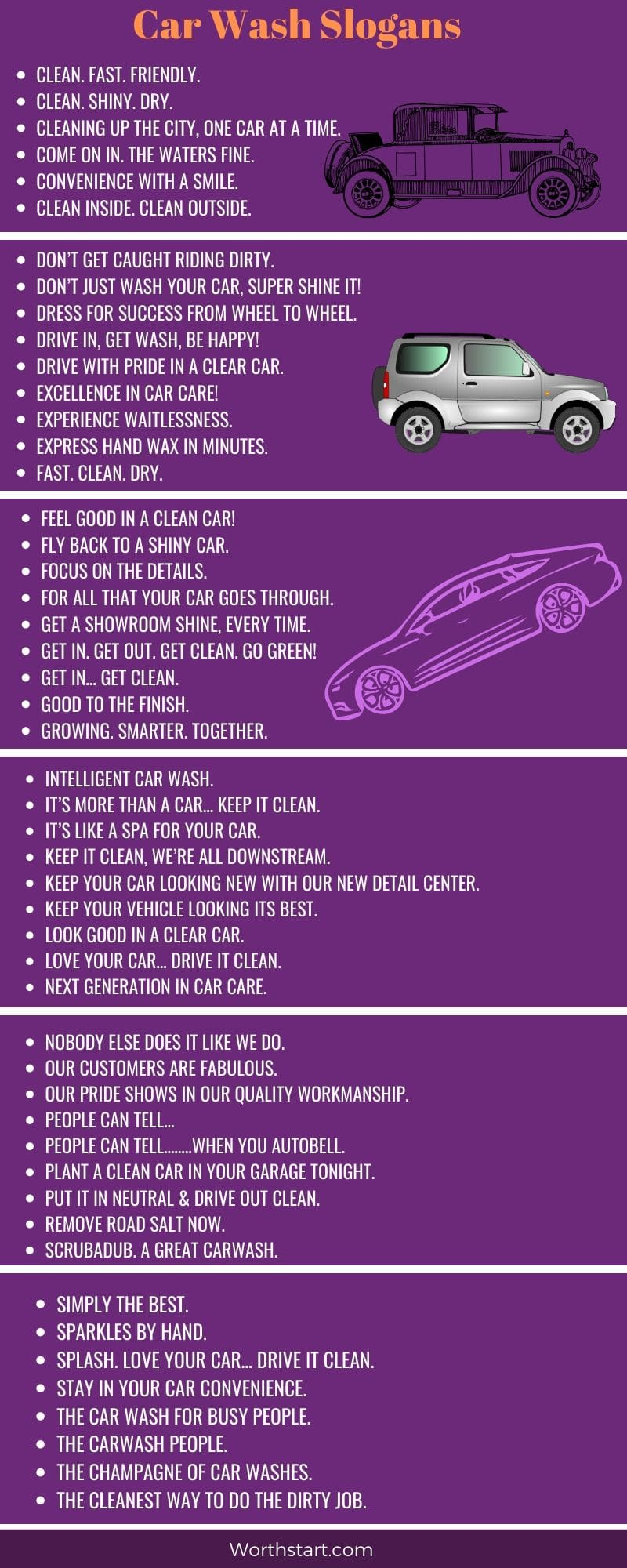 200 Car Wash Slogans Ideas And One Liners List
