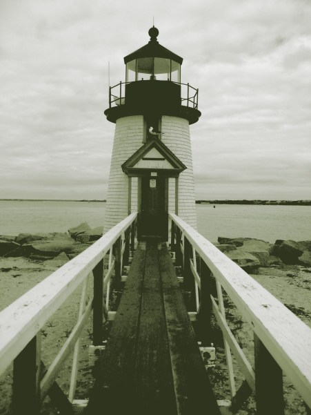 Lighthouse in Nantucket Town