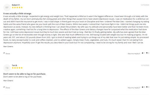 Man Greens customer reviews