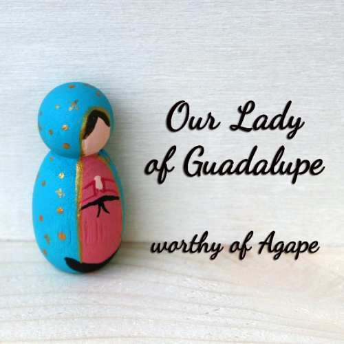 Our Lady of Guadalupe keychain side view