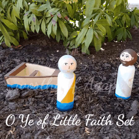 O Ye of Little Faith peg doll set