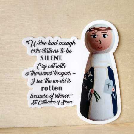 Catherine of Siena silence sticker