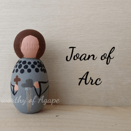 Joan of Arc keychain