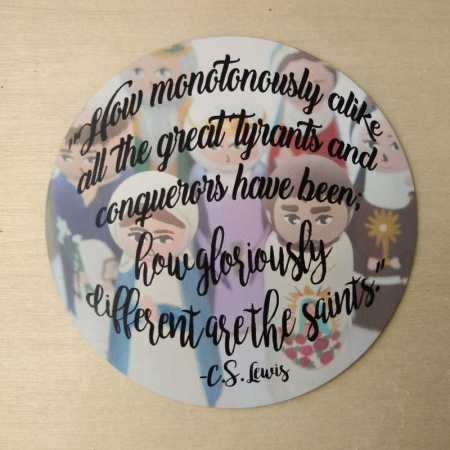 gloriously different C.S. Lewis quote magnet