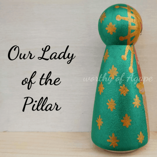 Our Lady of the Pillar single peg side