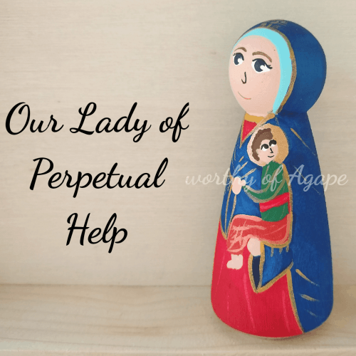 Our Lady of Perpetual Help Jesus side
