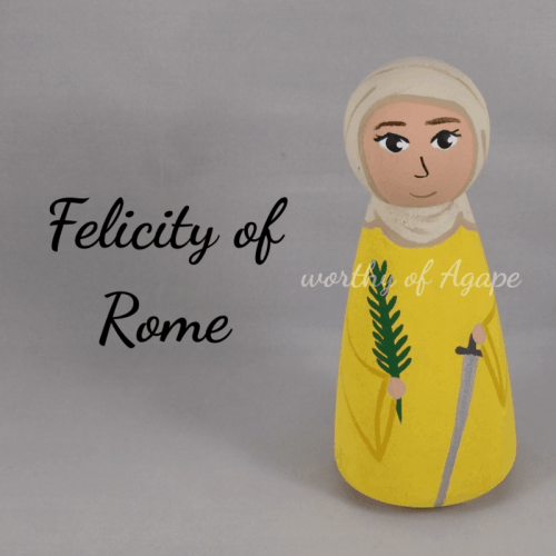Felicity of Rome white background