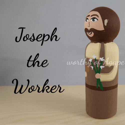Joseph the Worker new lily side