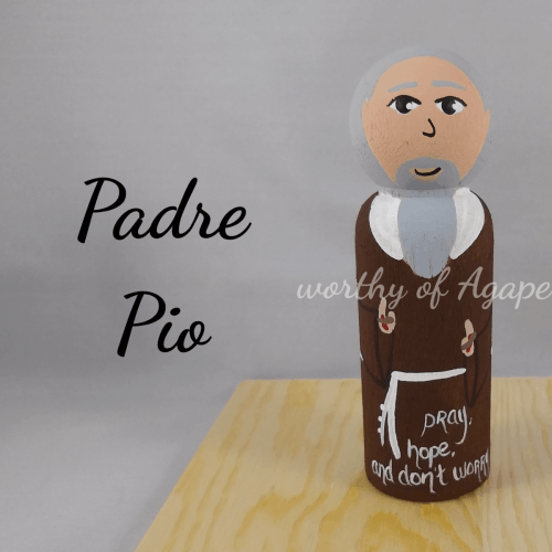 Padre Pio with quote