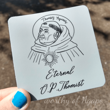 Eternal optimist Thomist sticker