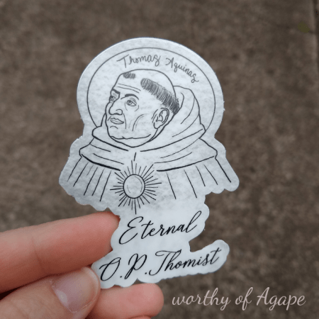 Eternal Optimist sticker custom cut o.p.thomist