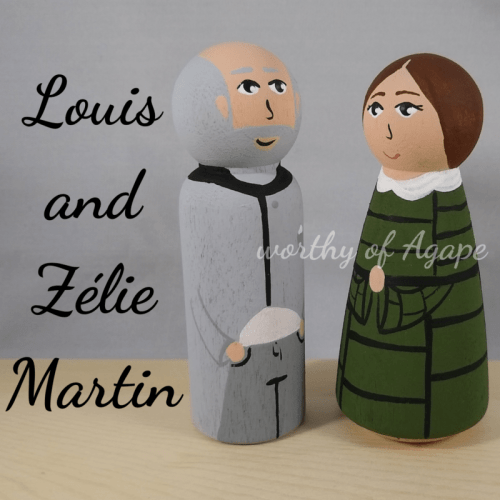 Louis and Zélie Martin facing each other