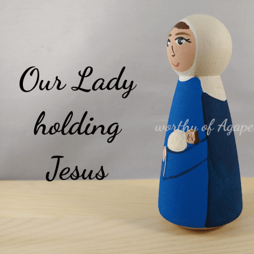 Our Lady holding Jesus side 2