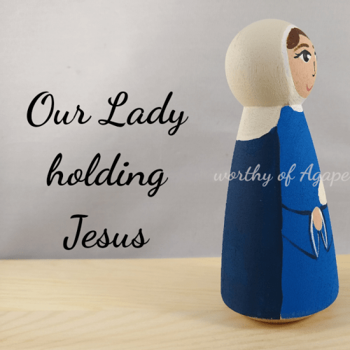 Our Lady holding Jesus side