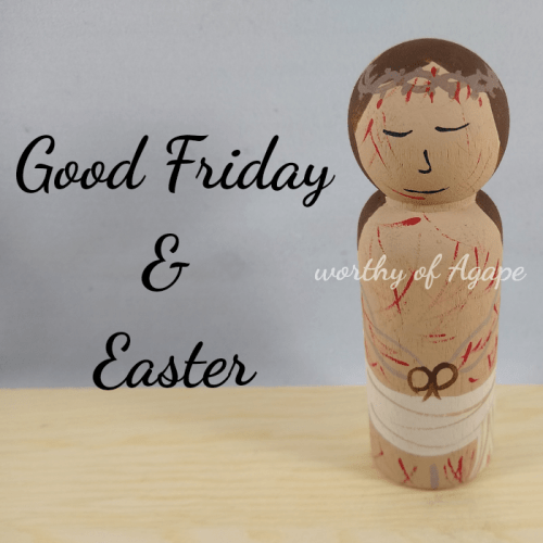 Good Friday and Easter good Friday side top