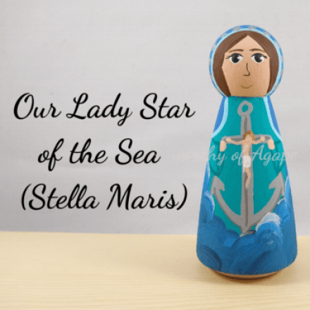 Our Lady Star of the Sea Stella Maris crucifix main