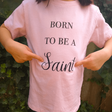 born to be a saint pointing