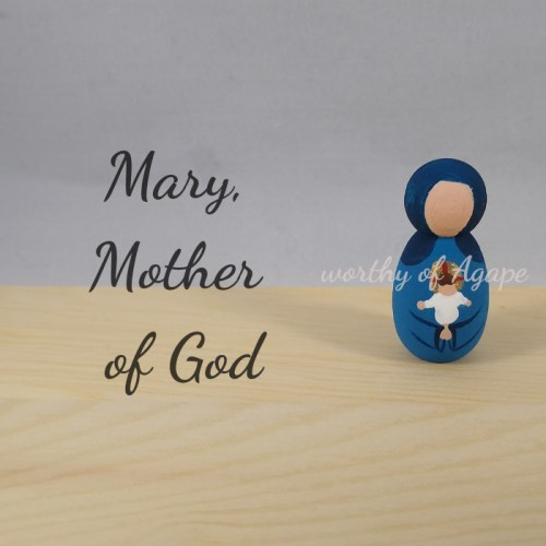 Mary Mother of God keychain ornament new