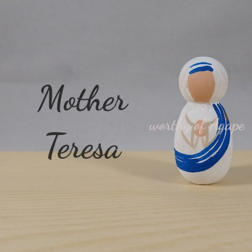 Mother Teresa keychain ornament