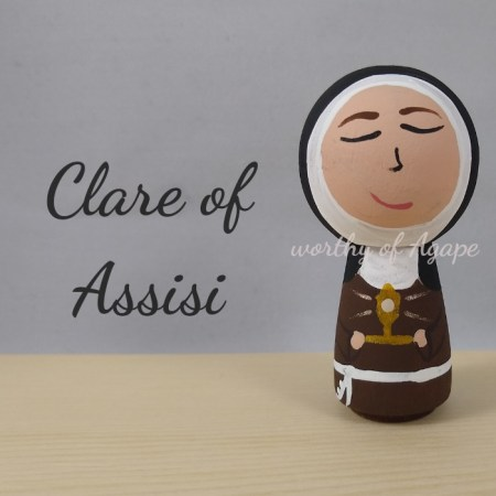 Clare of Assisi kokeshi main