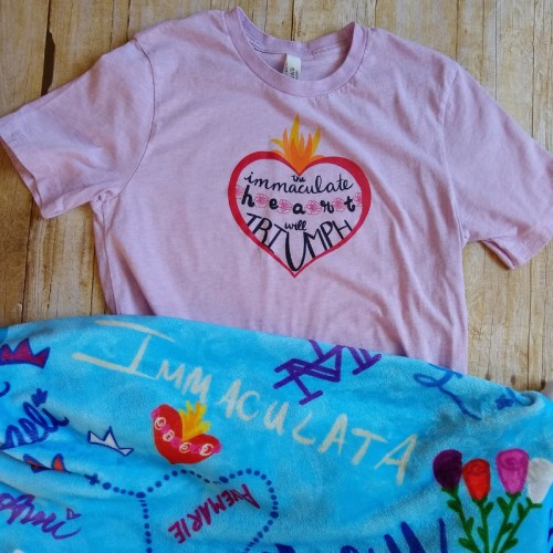 Immaculate Heart will Triumph with Names of Our Lady blanket