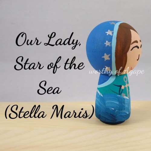 Our Lady Star of the Sea Stella Maris kokeshi side