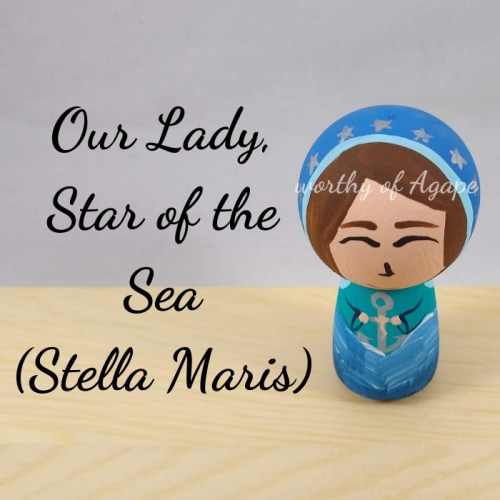 Our Lady Star of the Sea Stella Maris kokeshi top