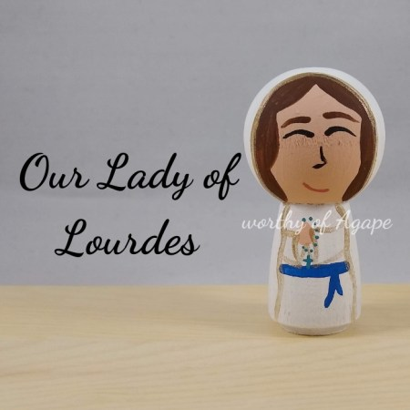Our Lady of Lourdes kokeshi main