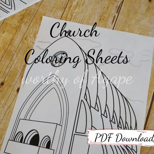 church coloring sheets PDF download Ave Maria