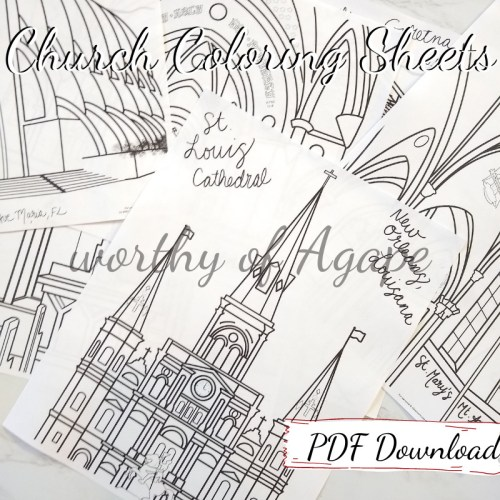 church coloring sheets PDF download all together2