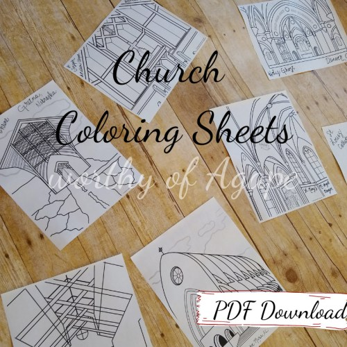 church coloring sheets PDF download