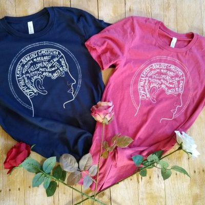 mental health saints tees with roses