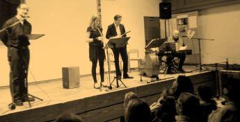 Auftritt in München: Florian, Gabriele, Johannes und Siegfried (von links)