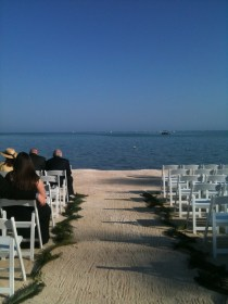 The Wedding: beautiful spot for a beautiful couple to get married. Congrats to the newlyweds!