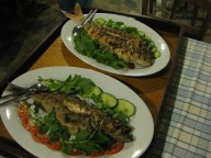 Dig In: we ate fresh fish every night on the trip. We had these beauties while in Finikas on Kythnos island.