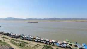 Boats for Hire in Bagan
