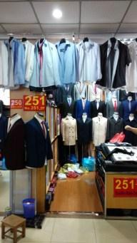 David's stall where we had Iggy's suit made.