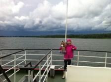 En tur på søen i stiv kuling