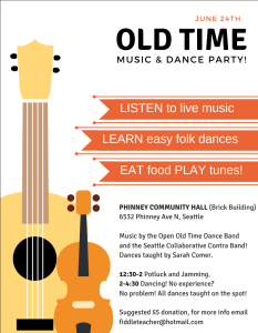 Old Time Music and Dance Party @ Phinney Community Hall (Brick Building) |  |  |