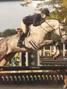 Kerry Hannon with her horse Saintly (aka Brinkley)
