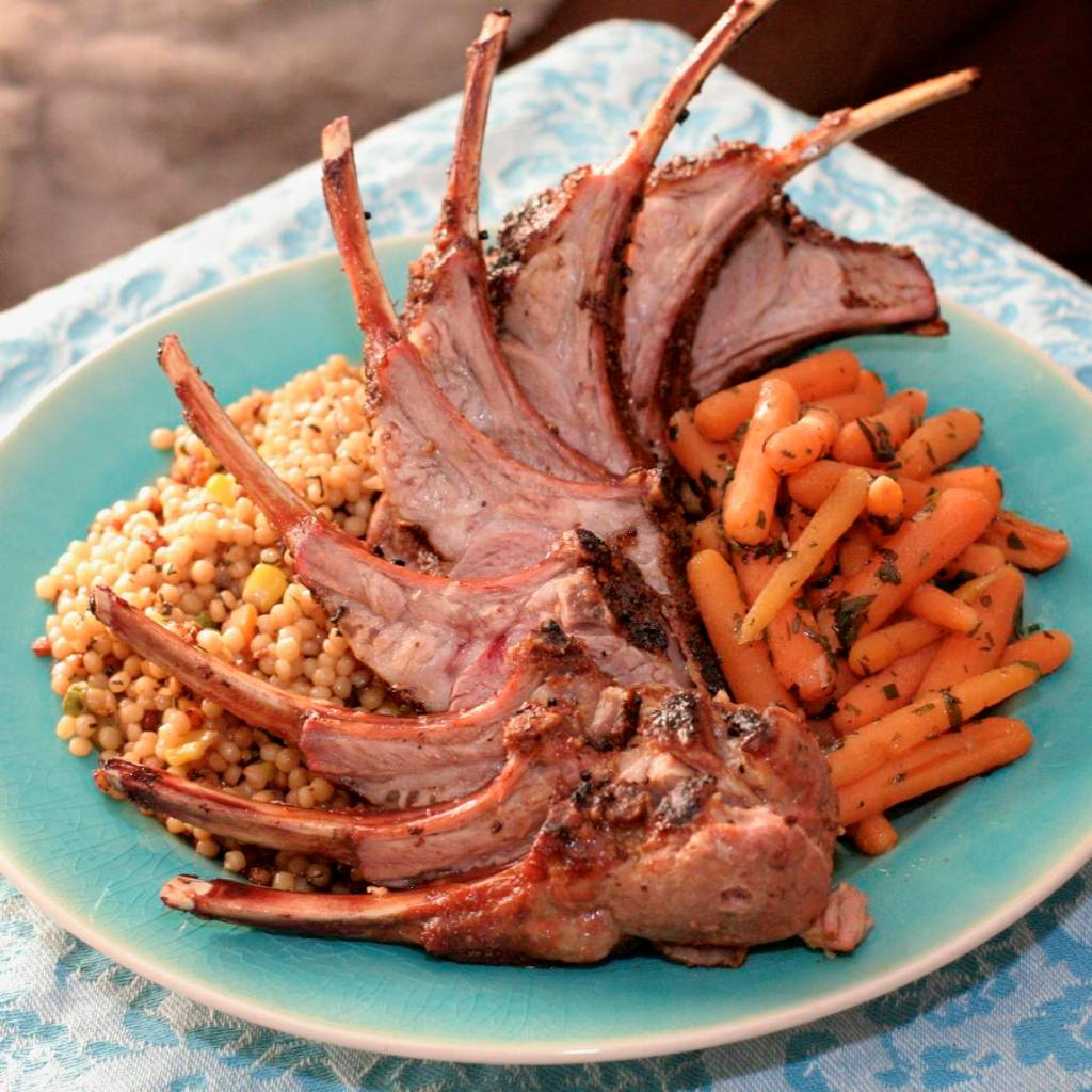 Rack of Lamb - finished product