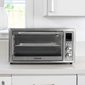 Cosori Air Fryer Oven in a white kitchen