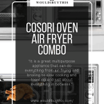 Cosori Oven Air Fryer Combo with four images and text