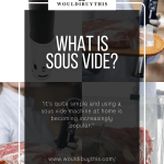 Images of What is Sous Vide with four pictures in the background